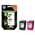Консуматив HP 300 Combo-pack Black/Tri-color Ink Cartridges  SN: CN637EE
