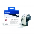 Консуматив Brother DK-22214 White Continuous Length Paper Tape 12mm x 30.48m, Black on White  SN: DK22214