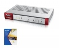 Защитна стена ZyXEL ZyWALL USG40 UTM BUNDLE Security UTM solution: Firewall, VPN: 10x IPSec/ 7x SSL (2 default), 4x 1Gbps (3x LAN/DMZ, 1x WAN), 1x OPT, 1x USB, Fanless, Wireless Controller for up to 10 (default 2) NWA3000-N/5000-N series of APs  SN: USG40-EU0102F