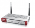 Защитна стена ZyXEL ZyWALL USG40W Security Firewall, VPN: 10x IPSec/ 7x SSL (2 default ), 4x 1Gbps (3x LAN/DMZ, 1x WAN, 802.11n (300Mbps)), 1x OPT, 1x USB, Fanless, Wireless Controller for up to 10 (default 2) NWA3000-N/5000-N series of APs  SN: USG40W-EU0101F