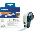 Консуматив Brother DK-11203 File Folder Labels, 17mm x 87mm, 300 labels per roll, Black on White  SN: DK11203