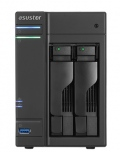 "Мрежов сторидж Asustor AS6102T, 2-bay NAS, Intel Celeron N3050 ( up to 2.16GHz), 2 GB DDR3L SO-DIMM (max 8GB), 2 x 3.5"" or SSD, GbE x 2, 3* USB 3.0 ,2*USB 2.0, 2*eSATA, 16 Ch. IP Cam(4 license incl.), WoL, HDMI+ S/PDIF+ IR Receiver, System Sleep Mode, AES-NI hardware  SN: AS6102T"