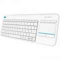 Клавиатура Logitech Wireless Touch Keyboard K400 Plus White  SN: 920-007146
