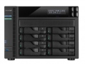 "Мрежов сторидж Asustor AS7008T, 8-Bay NAS, Intel Core i3 3.5 GHz Dual-Core, 2GB DDR3( max. 16GB),  8x 2.5"" / 3.5"" SATAII / SATAIII or SSD GbE x 2, HDMI, SPDIF, PCI-E (10GbE ready), USB 3.0 & SATA, LCD Panel, WoL, System Sleep Mode, 24 Ch. IP Cam(4 license incl.)  SN: AS7008T"