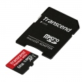 Памет Transcend 64GB micro SDXC UHS-I Premium (with adapter, Class 10)  SN: TS64GUSDU1