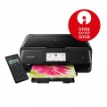 Мастилоструйно многофункционално устройство Canon PIXMA TS8050 All-In-One, Black + Canon F-715SG  SN: 1369C100AA