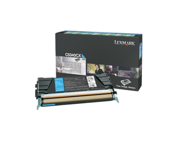 Консуматив Lexmark C534 Cyan Return Programme Toner Cartridge (7K)  SN: C5340CX