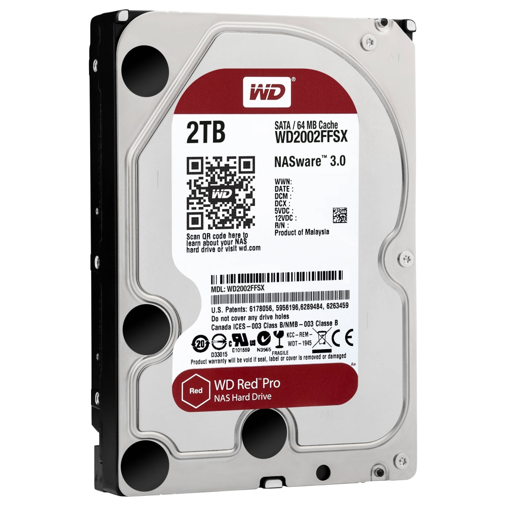 Твърд диск Western Digital Red Pro NAS  2 TB - SATA 6Gb/s 7200 rpm 64MB  SN: WD2002FFSX