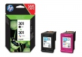 Консуматив HP 301 2-pack Black/Tri-color Original Ink Cartridges  SN: N9J72AE