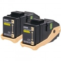 Консуматив Epson AL-C9300N Double Pack Toner Cartridge Yellow, 7.5k x2  SN: C13S050606