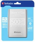 "Твърд диск Verbatim External HDD 2.5"" 500GB USB3.0 Silver  SN: 53021"