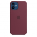 Калъф Apple iPhone 12 mini Silicone Case with MagSafe - Plum (Seasonal Fall 2020)  SN: MHKQ3ZM/A