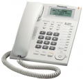 Panasonic KX-TS880W/B Стандартен телефон - дисплей, SP-phone, Caller ID - бял