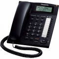 Panasonic KX-TS880W/B Стандартен телефон - дисплей, SP-phone, Caller ID - черен